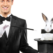 magician and rabbit
