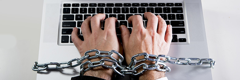 chained to keyboard