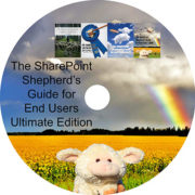 The SharePoint Shepherd's Guide for End Users Ultimate Edition DVD Face
