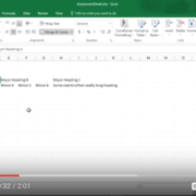 Quick Tip: Excel: Formatting Headings