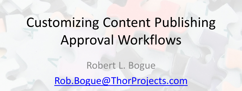 Customizing Content Publishing Approval Workflows